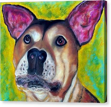 Woof Woof Canvas Print by Laura  Grisham