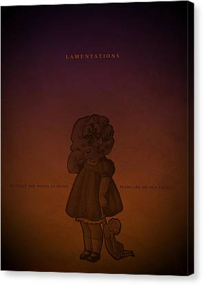 Word Lamentations Canvas Print by Jim LePage