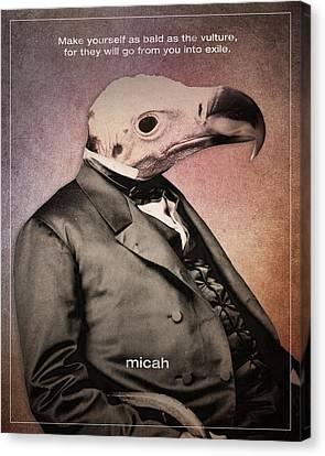 Word Micah Canvas Print by Jim LePage