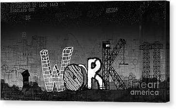 Work Canvas Print by Andy  Mercer