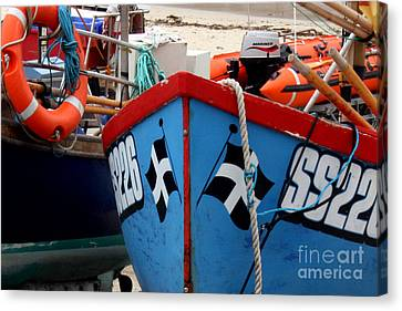 Sennen Cove Canvas Print - Working Harbour by Terri Waters