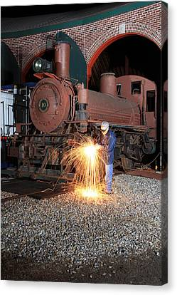 Working On The Railroad Canvas Print