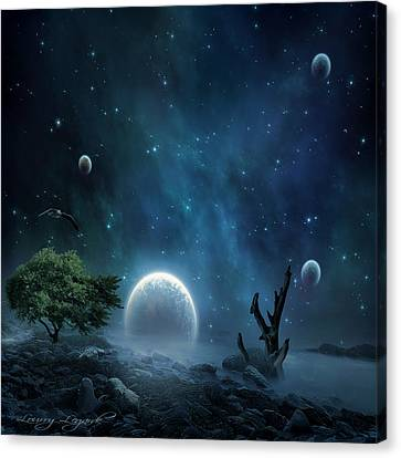World Beyond Canvas Print by Lourry Legarde