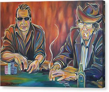 World Series Of Poker Canvas Print by Redlime Art