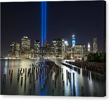 World Trade Center Tribute From The Pier Canvas Print