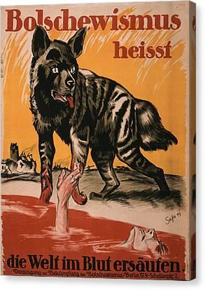World War I, Bolshevism, Poster Shows Canvas Print