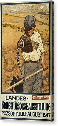 World War I, German Poster Shows Canvas Print by Everett
