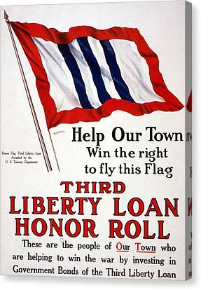 World War I, Poster - Help Our Town Win Canvas Print