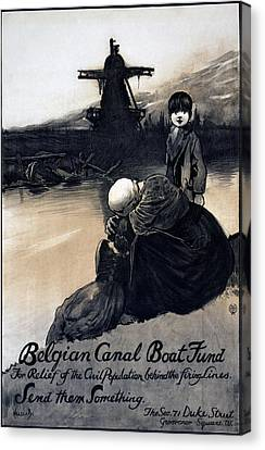 World War I, Poster Showing A Mother Canvas Print by Everett