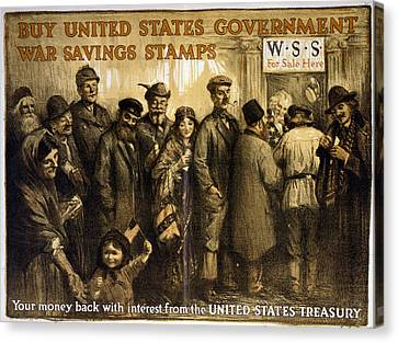 World War I, Poster Showing A Variety Canvas Print