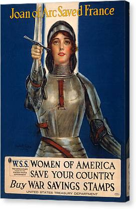 World War I, Poster Showing Joan Of Arc Canvas Print by Everett
