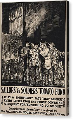 World War I, Poster Showing Soldiers Canvas Print by Everett