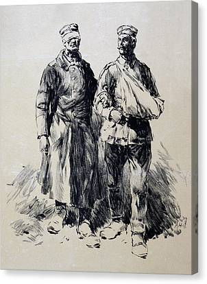 World War I, Poster Shows Wounded Canvas Print by Everett