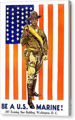 World War I, Recruitment Poster Canvas Print by Everett