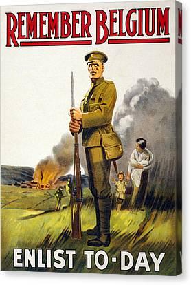 World War I, Recruitment Poster Poster Canvas Print by Everett