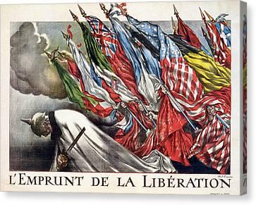 World War I, The Liberation Loan Canvas Print by Everett