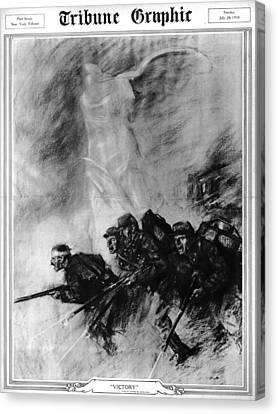 World War I, The Tribune Graphic Canvas Print by Everett