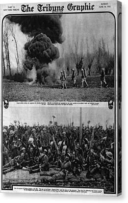 World War I, The Tribune Graphic, Top Canvas Print by Everett