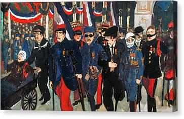 World War I: Veterans Canvas Print by Granger
