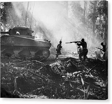 World War II: Bougainville Canvas Print by Granger