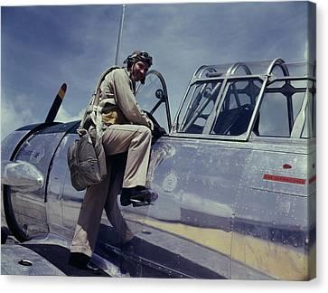 World War II, Cadet L. Deitz Canvas Print by Everett