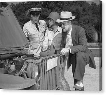 L. Palmer Canvas Print - World War II, George Woolslayer Right by Everett