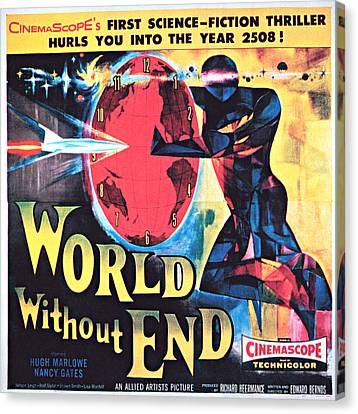 1956 Movies Canvas Print - World Without End, Poster Art, 1956 by Everett