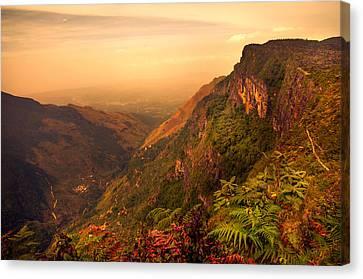 Worlds End. Horton Plains National Park. Sri Lanka Canvas Print by Jenny Rainbow