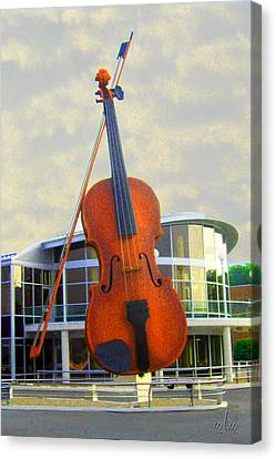 World's Largest Fiddle Canvas Print