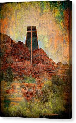 Worship In Sedona Canvas Print by Dale Stillman