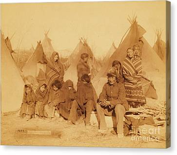 Wounded Knee Survivors Canvas Print by Pg Reproductions