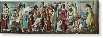 Wpa Mural. Contemporary Justice Canvas Print by Everett