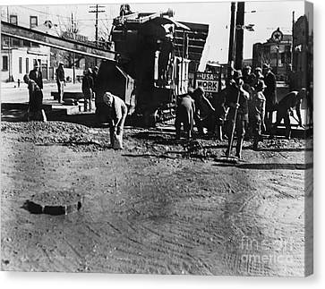 Wpa: Road Construction Canvas Print by Granger