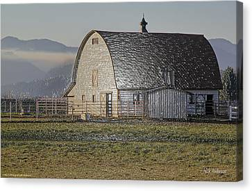 Wrapped Barn Canvas Print by Mick Anderson
