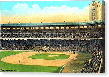 Wrigley Field In Los Angeles Ca In 1937 Canvas Print by Dwight Goss