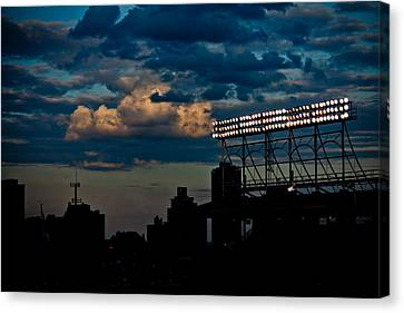 Wrigley Field Light Stand Canvas Print