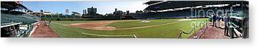 Wrigley Field Panorama Canvas Print by David Bearden