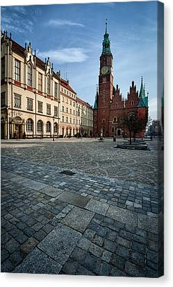 Wroclaw Town Hall Canvas Print by Sebastian Musial