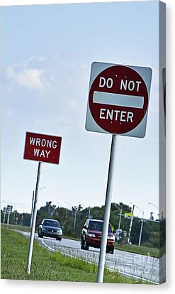 Wrong Way  Canvas Print by Blink Images