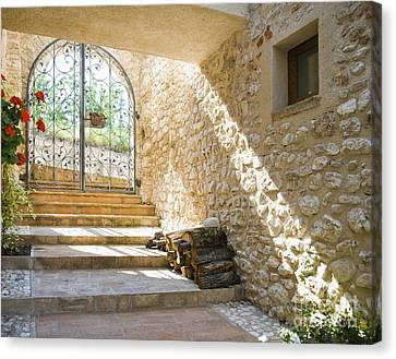 Wrought Iron Gate And Stairs Canvas Print by Andersen Ross