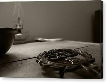 Wrought Iron Trivet Canvas Print by Scott Hovind