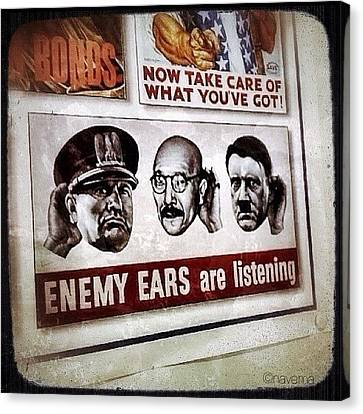 Ww2 Propaganda Canvas Print by Natasha Marco