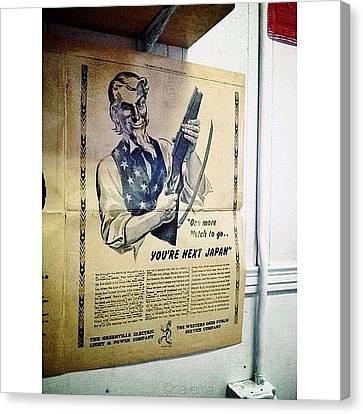 Ww2 Vintage War Bonds Advertising Canvas Print by Natasha Marco