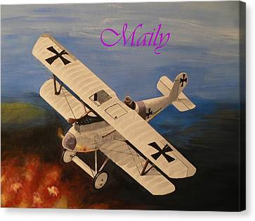 Wwi Aplane Canvas Print by Maily