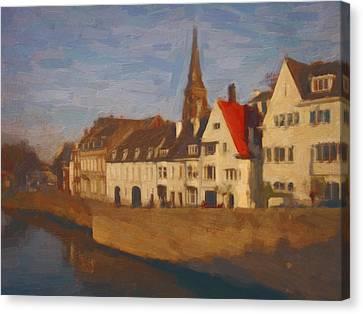 Wyck In Winter Sunlight Canvas Print by Nop Briex