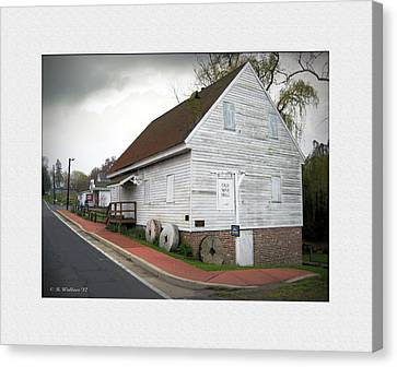 Wye Mill - Street View Canvas Print by Brian Wallace