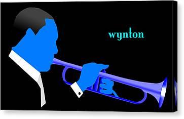 Canvas Print - Wynton Marsalis Blue by Victor Bailey