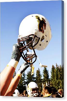 Wyoming Helmet Canvas Print