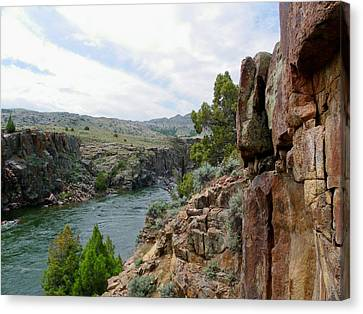 Wyoming River Canvas Print by Wayne Toutaint