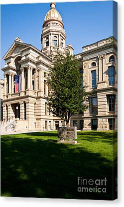 Wyoming State Capital Canvas Print